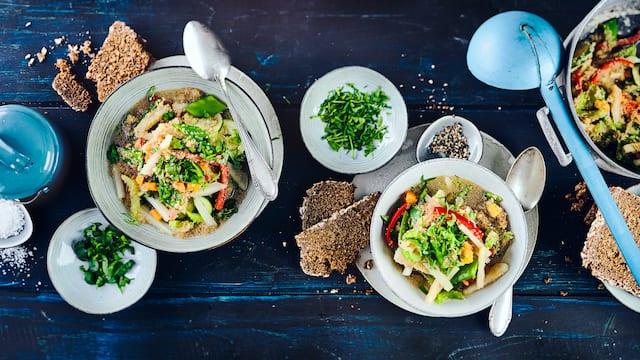 Veganer Amaranth-Gemüsetopf