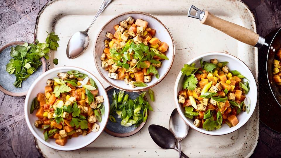 Veganes Gemüsecurry mit Tofu