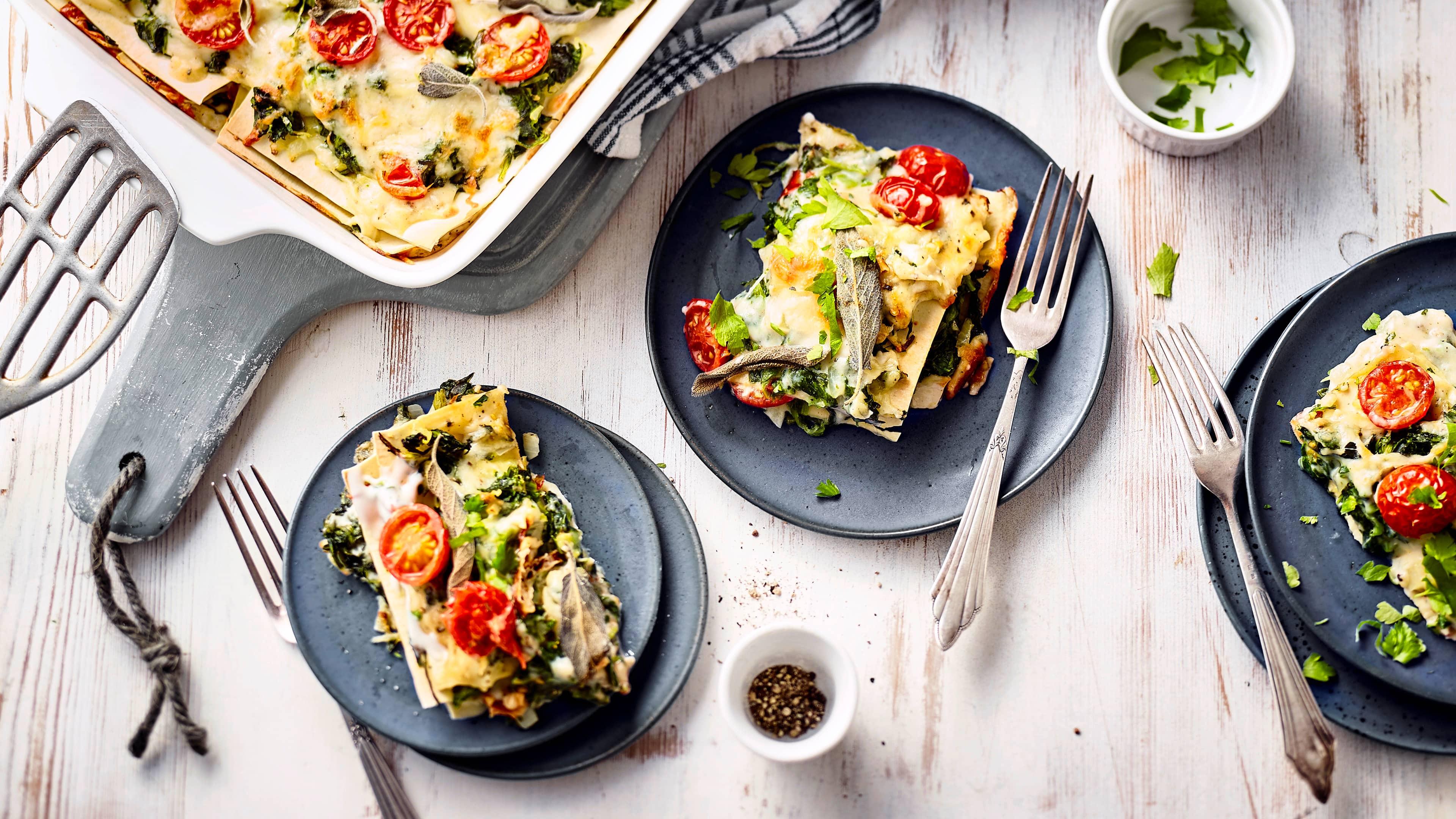 vegetarische lasagne rezept edeka. Black Bedroom Furniture Sets. Home Design Ideas