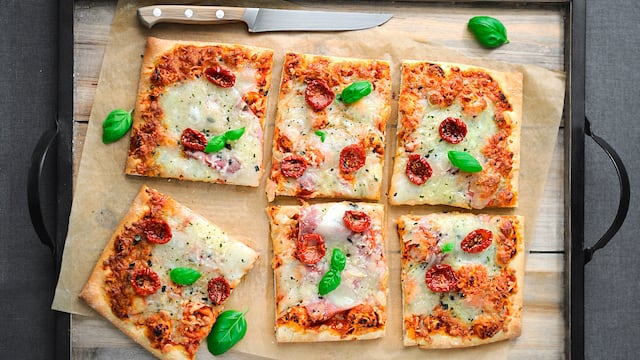 Vegetarische Tomatenpizza