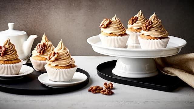 Walnuss-Karamell-Cupcakes