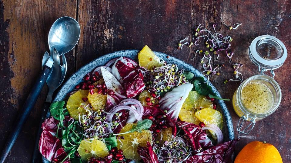 Winterlicher Orangen-Salat