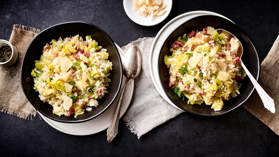 Wirsing-Risotto